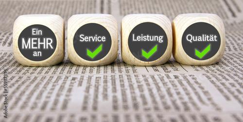 Láminas  Ein MEHR an Service, Leistung, Qualität