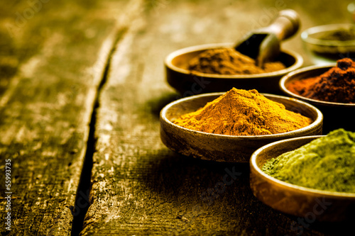 Photo  Bowl of Asian curry powder