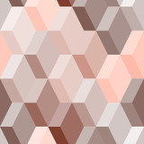 Abstract geometric seamless pattern in pink and brown, vector - 55995344