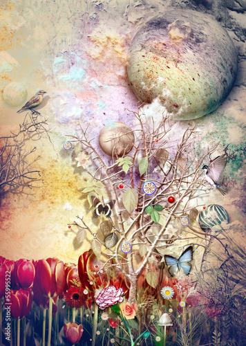 Papiers peints Imagination Witches Tree