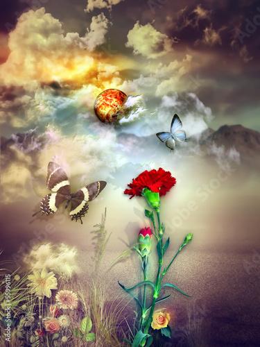 Foto auf Leinwand Phantasie Dream landscape
