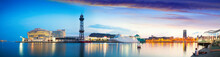 Panoramic View Of Port Vell. B...