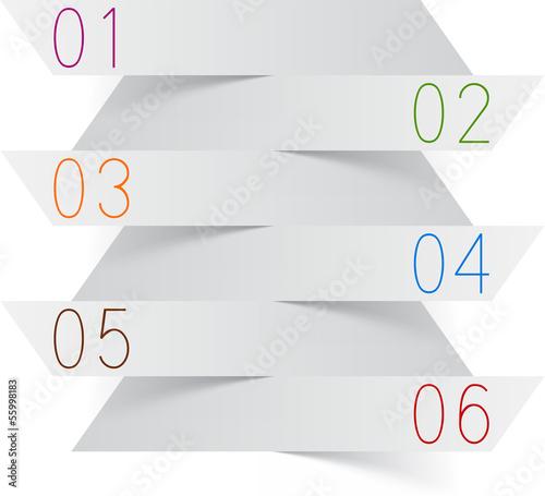Photographie  Infographics white paper design.