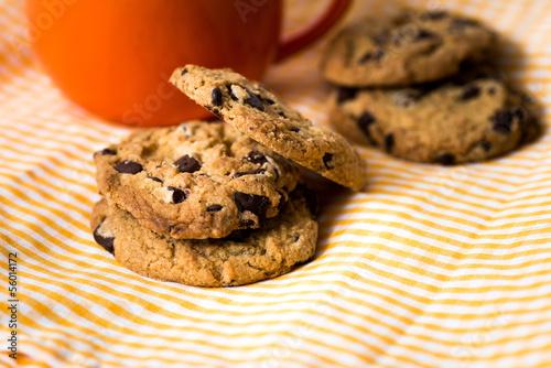 Keuken foto achterwand Koekjes Chocolate chips cookies