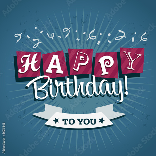 Photo  Happy Birthday Greeting Invitation Card