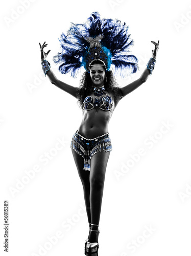 Cadres-photo bureau Carnaval woman samba dancer silhouette