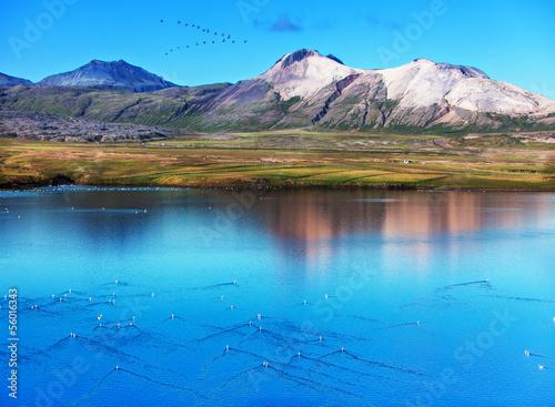 Poster Bleu paysage