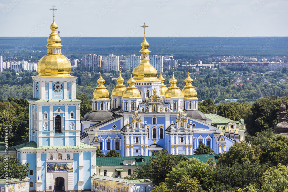 Fototapety, obrazy: Saint Michael's Golden-Domed Cathedral in Kyiv, Ukraine, Europe.