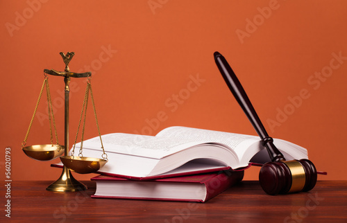 gavel and scales of justice Wallpaper Mural