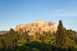 Acropolis of Athens as seen from Areopagus hill.