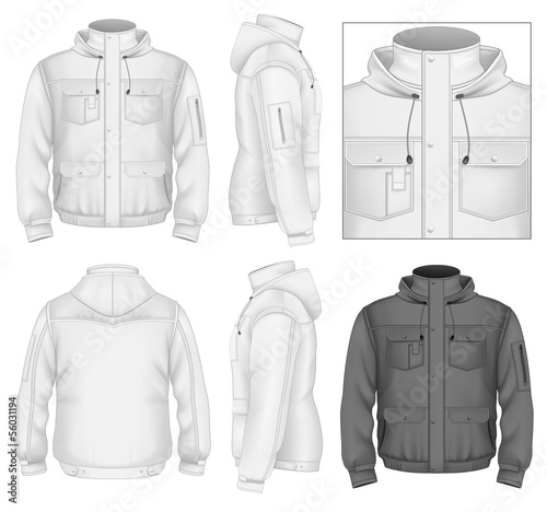 Fotografia Men's flight jacket with hood