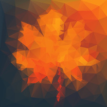 Abstract Autumn Illustration W...