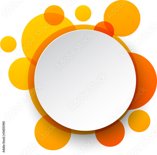 Photo  Paper white round speech bubbles.