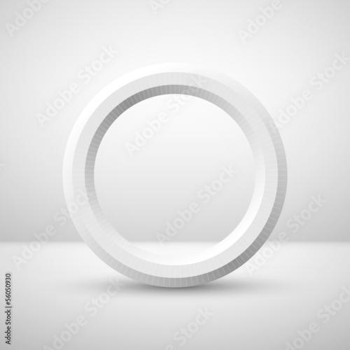 Zdjęcie XXL Biały pierścionek