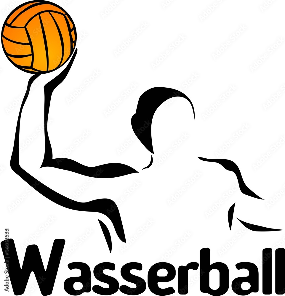 Fotografía Wasserballer Water Polo Wasser Ball Sport Silhouette