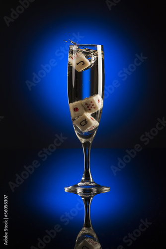 champagne and cubes Poster