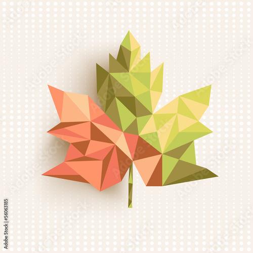 Fototapeta Fall season triangle leaf composition concept background. EPS10 obraz na płótnie