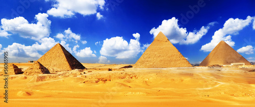 Great Pyramid  located at Giza . #56065905