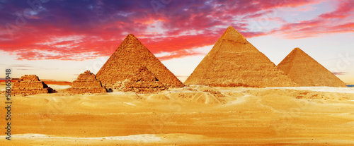 Photo Stands Egypt Great Pyramid located at Giza