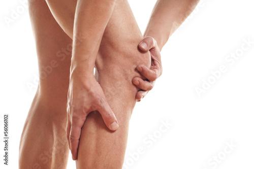 Photo  Schmerzen im Knie und in der Wade