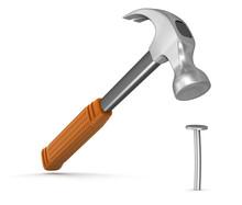 Hammer  And Nail (clipping Pat...