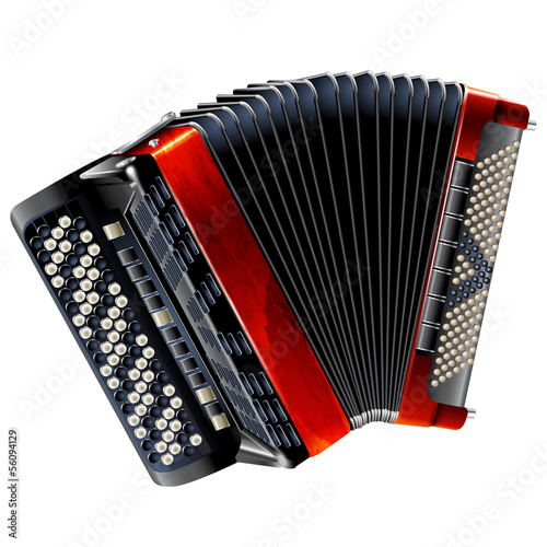 Fotografía  Classical bayan (accordion), isolated on white background