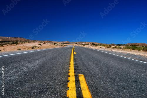 Papiers peints Route 66 Route Américaine dans le désert