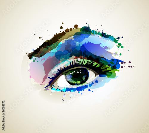 Oko piękna moda tworzy kobiety kleksami