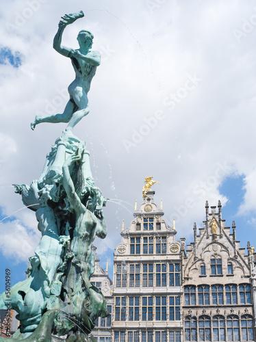 Tuinposter Antwerpen Brabobrunnen in Antwerpen