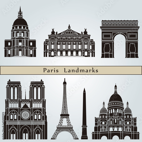 Fototapeta Paris landmarks and monuments