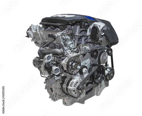 Foto Motor eines modernen Autos der Luxusklasse