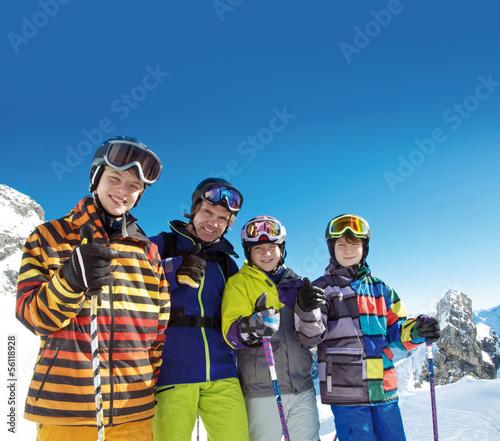 Foto-Schmutzfangmatte - Ja zum Skifahren (von grafikplusfoto)