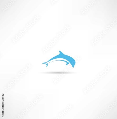 Staande foto Dolfijnen dolphins icon