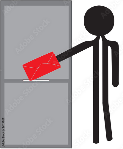 Valokuva  man with red enveloppe