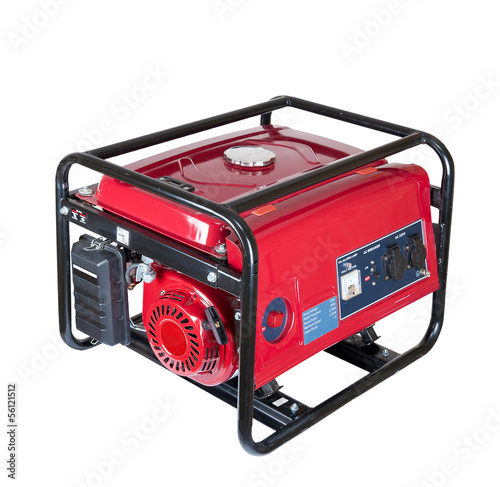 Fotografiet portable gasoline generator. isolated on a white background.