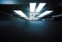 Dark Parking Garage Industrial...