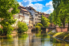 Strasbourg, Water Canal In Pet...