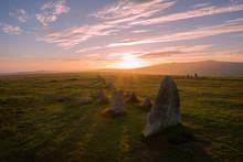 Sunset Over Merrivale, Dartmoo...