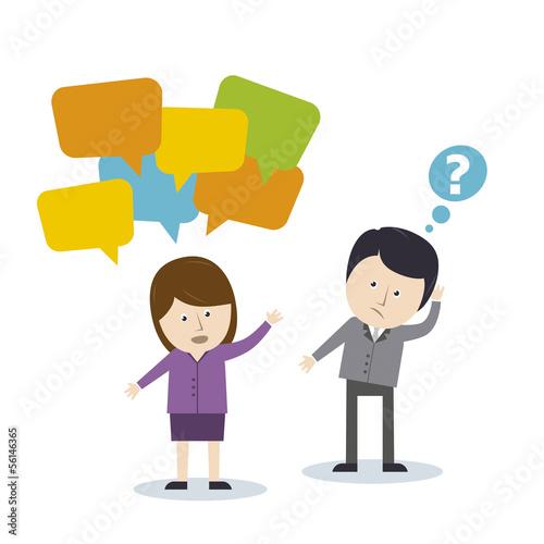 Kommunikation mann und frau