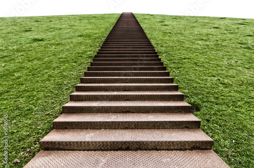 Photo Stands Stairs stairs on a hill