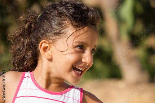 Fotografie, Obraz  bambina allegra e felice
