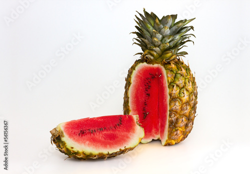 Canvas Pineapple containing a watermelon