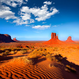 Monument Valley West and East Mittens Butte Utah