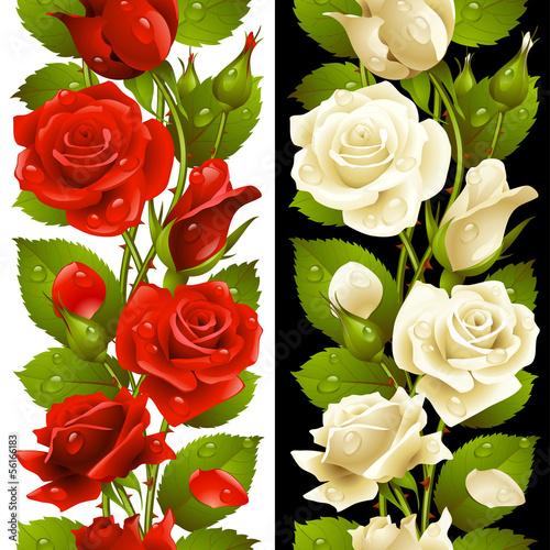wektor-czerwona-i-biala-roza-pionowy-wzor