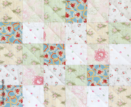 Patchwork Quilt , Classic pattern square Fototapete