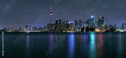 In de dag Toronto Toronto city at night
