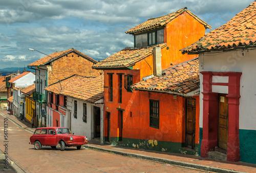 La Candelaria, historic neighborhood in downtown Bogota, Colombi Canvas Print