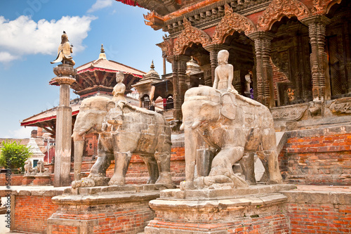 Wall Murals Nepal Temples at Durbar Sqaure in Patan, Nepal