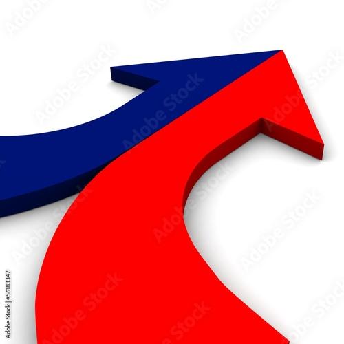 Fotografie, Obraz  3d arrow bright merging