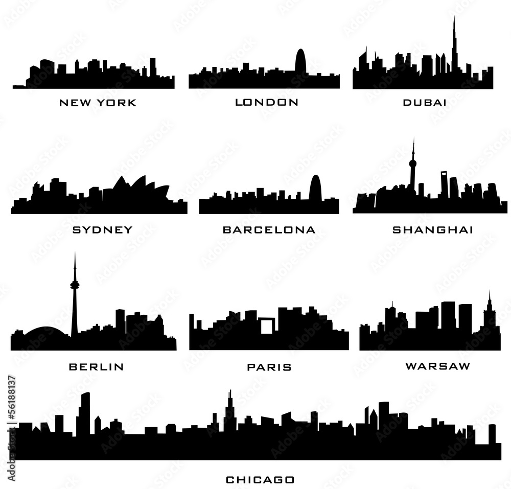 Fototapety, obrazy: cities pano